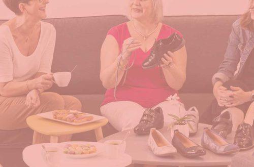 vente à domicile de chaussures