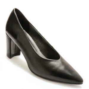 escarpin noir cuir