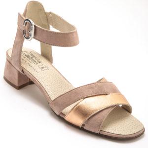 sandale rose cuir confort