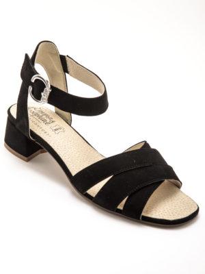 sandale noir cuir confort