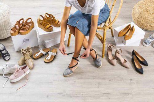 devenir conseillère à domicile - collection de chaussures